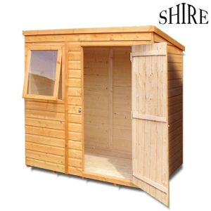 it comes with 12mm thick tongue groove cladding on the walls and floor with an 11mm solid sheet osb roof this ensures that your garden building is